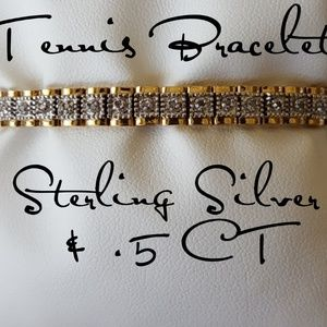 Jewelry - GORGEOUS Tennis Bracelet Sterling Silver .5 CT